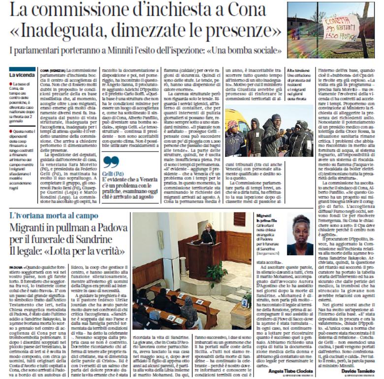Commissione d'inchiesta Cona Moretto