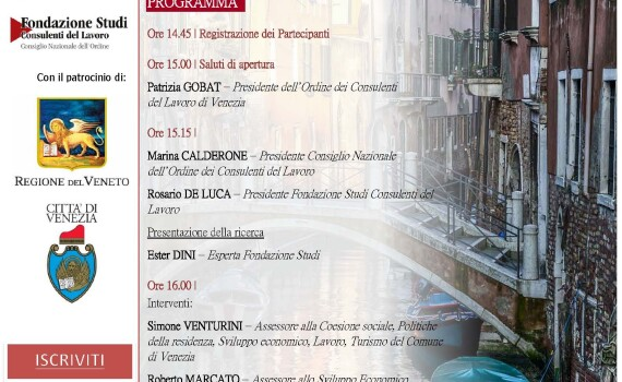 Locandina videoconferenza VENEZIA VIVE..dalla crisi ad un nuovo inizio 18 12 2020
